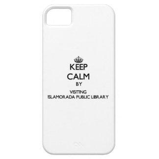 Guarde la calma visitando la biblioteca pública la iPhone 5 Case-Mate funda