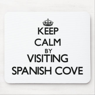 Guarde la calma visitando la ensenada española mousepads