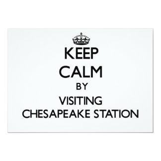 Guarde la calma visitando la estación Maryland del Comunicado