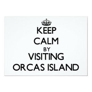 Guarde la calma visitando la isla Washington de Invitación 12,7 X 17,8 Cm