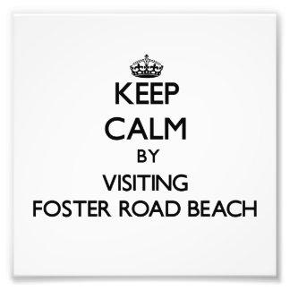 Guarde la calma visitando la playa adoptiva Wiscon Foto