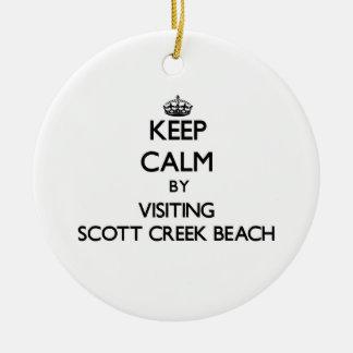 Guarde la calma visitando la playa California de Adorno Redondo De Cerámica