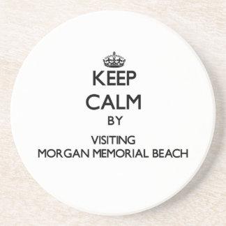 Guarde la calma visitando la playa conmemorativa n posavasos manualidades