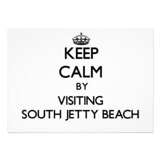 Guarde la calma visitando la playa del sur la Flor
