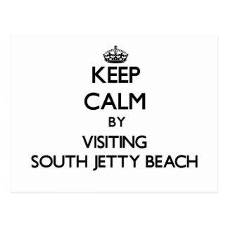 Guarde la calma visitando la playa del sur la postal