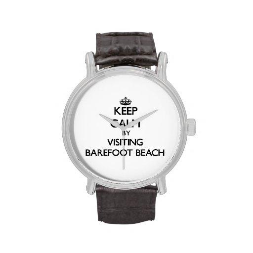 Guarde la calma visitando la playa descalza la Flo Reloj