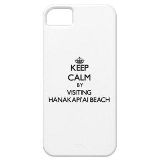 Guarde la calma visitando la playa Hawaii de Hanak iPhone 5 Case-Mate Cobertura