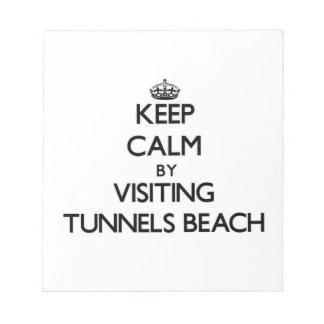 Guarde la calma visitando la playa Hawaii de los t Libretas Para Notas