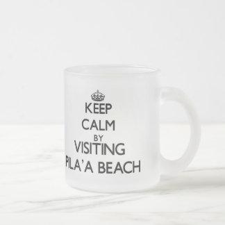 Guarde la calma visitando la playa Hawaii de Pila' Taza De Café
