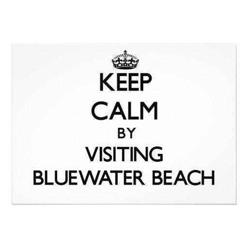 Guarde la calma visitando la playa la Florida de B Invitación