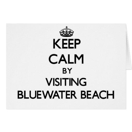 Guarde la calma visitando la playa la Florida de B Tarjetas