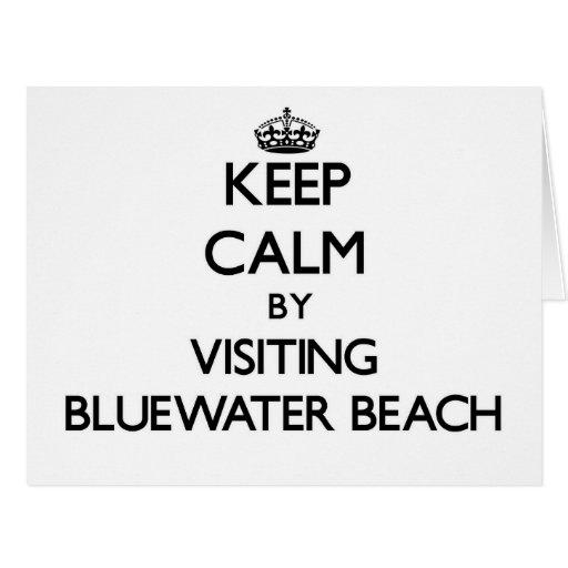 Guarde la calma visitando la playa la Florida de B Felicitacion