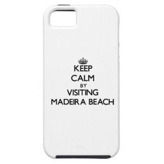 Guarde la calma visitando la playa la Florida de iPhone 5 Case-Mate Coberturas