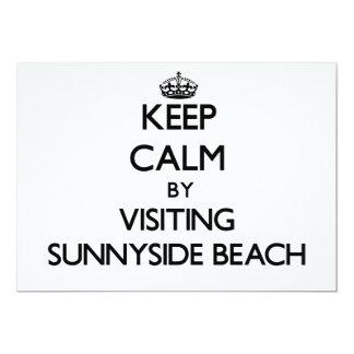 Guarde la calma visitando la playa la Florida de Invitacion Personal