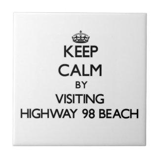Guarde la calma visitando la playa la Florida de l Tejas Cerámicas