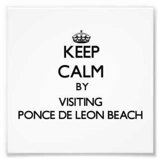 Guarde la calma visitando la playa la Florida de P