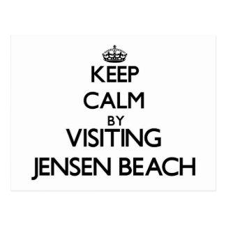 Guarde la calma visitando la playa la Florida de Postal
