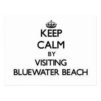 Guarde la calma visitando la playa la Florida de Tarjeta Postal