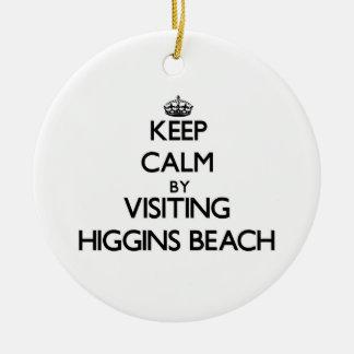 Guarde la calma visitando la playa Maine de Adorno Redondo De Cerámica