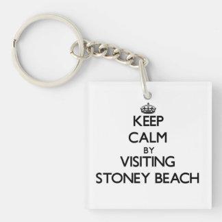 Guarde la calma visitando la playa Massachusetts d Llaveros