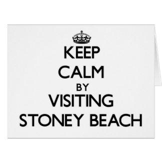 Guarde la calma visitando la playa Massachusetts Tarjeta De Felicitación Grande