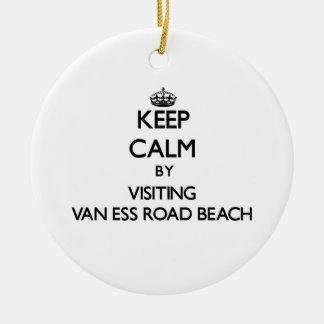 Guarde la calma visitando la playa Wisconsin de Adorno Redondo De Cerámica