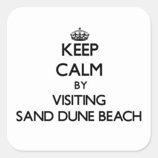 Guarde la calma visitando la playa Wisconsin de la Colcomanias Cuadradass