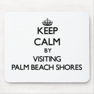 Guarde la calma visitando las orillas la Florida Alfombrilla De Ratón