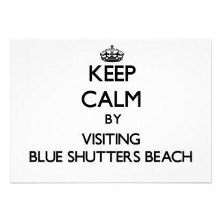 Guarde la calma visitando los obturadores azules q