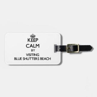 Guarde la calma visitando los obturadores azules q etiqueta para equipaje