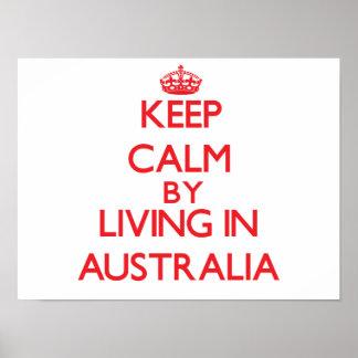 Guarde la calma viviendo en Australia Poster