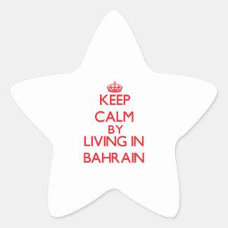Guarde la calma viviendo en Bahrein Calcomanías Forma De Estrellaes Personalizadas