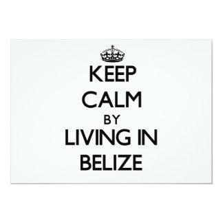 Guarde la calma viviendo en Belice Invitacion Personal