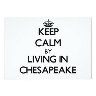 Guarde la calma viviendo en Chesapeake Invitación Personalizada