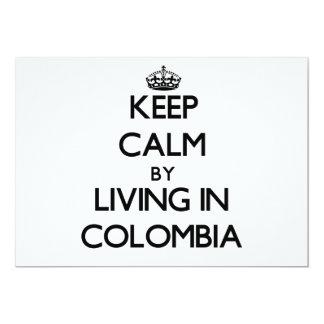 """Guarde la calma viviendo en Colombia Invitación 5"""" X 7"""""""