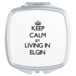 Guarde la calma viviendo en Elgin Espejos De Maquillaje