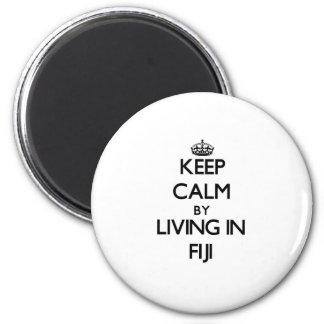 Guarde la calma viviendo en Fiji Imán Redondo 5 Cm
