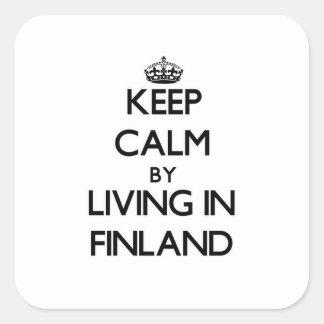 Guarde la calma viviendo en Finlandia Colcomanias Cuadradass