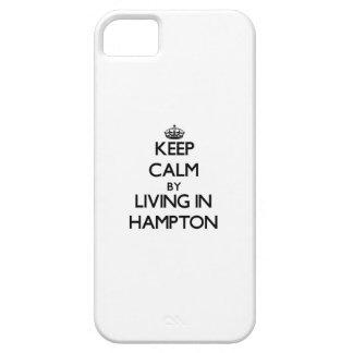 Guarde la calma viviendo en Hampton iPhone 5 Fundas