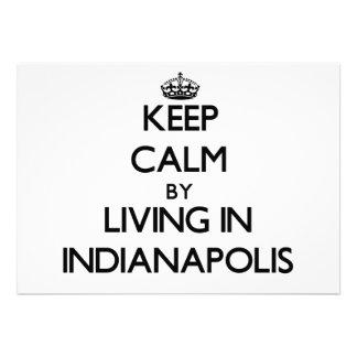 Guarde la calma viviendo en Indianapolis Invitación Personalizada