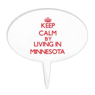 Guarde la calma viviendo en Minnesota Palillos De Tarta