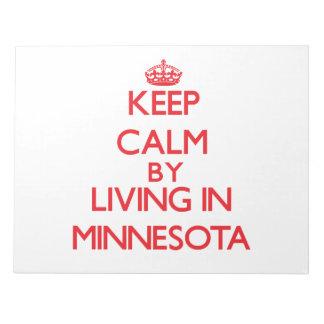 Guarde la calma viviendo en Minnesota Blocs De Papel