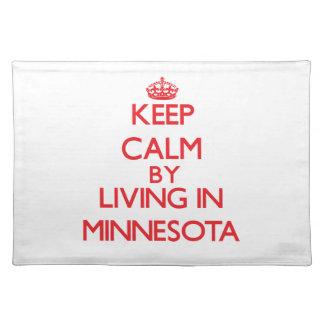 Guarde la calma viviendo en Minnesota Manteles