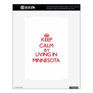 Guarde la calma viviendo en Minnesota Calcomanía Para El NOOK