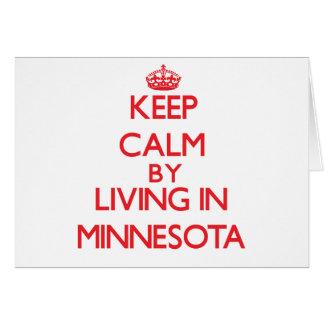 Guarde la calma viviendo en Minnesota Tarjeton
