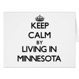 Guarde la calma viviendo en Minnesota Tarjeta