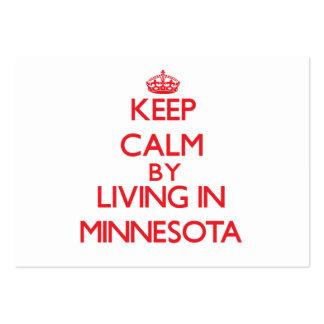Guarde la calma viviendo en Minnesota Tarjeta De Visita