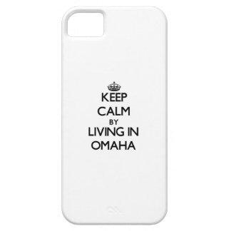 Guarde la calma viviendo en Omaha iPhone 5 Protector