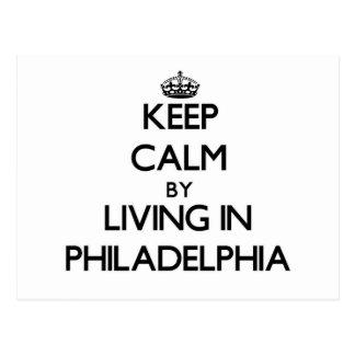 Guarde la calma viviendo en Philadelphia Postal