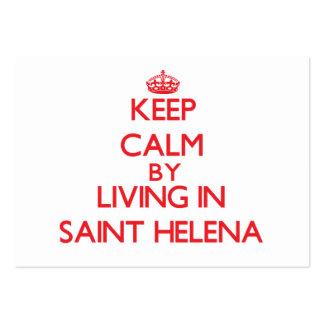 Guarde la calma viviendo en Santa Helena Tarjetas De Visita